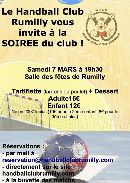 Soiree Du Hbcr Handball Club Rumilly